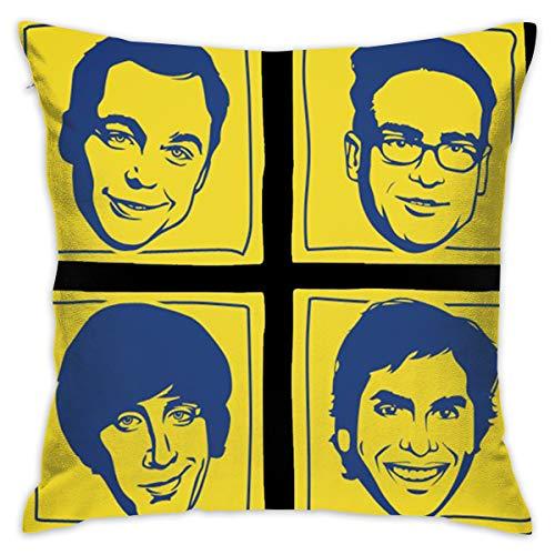 JIAYICENK The Big Bang Theory Funda de cojín Decorativa, Fundas de Almohada de 18 x 18 Pulgadas