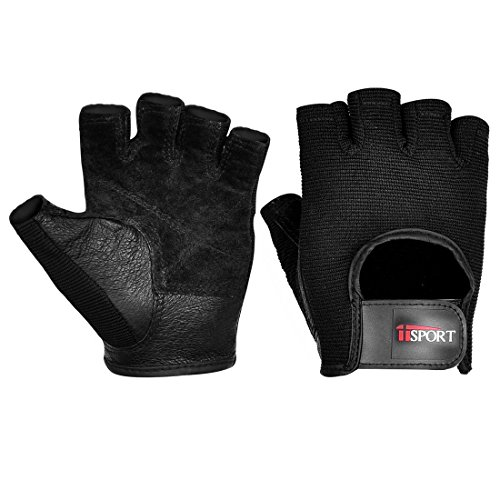 Weight Lifting Gloves for Men, Fitness Gym Exercise Workout Gloves Black (PAIR) L