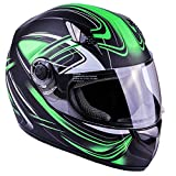 Typhoon K77 Full Face Motorcycle Helmet DOT - SAME DAY SHIPPING (Matte Green, Adult XXL)