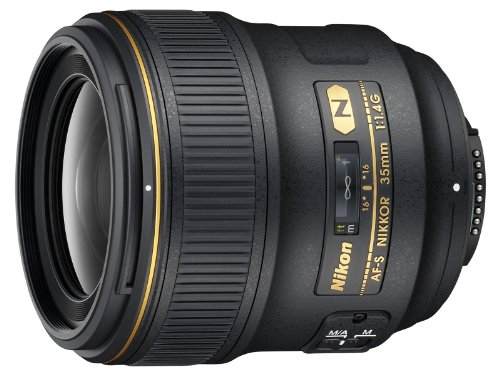 Nikon AF FX NIKKOR 35mm f/1.4G Fixed Focal Length Lens with Auto...