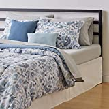 Amazon Basics 10-Piece Bed-in-a-Bag - Soft, Easy-Wash Microfiber - Full/Queen, Blue Watercolor Floral