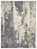 Luxe Weavers Euston Gray 5 x 7 Abstract Modern Area Rug 7681