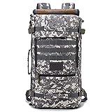Generies 1 unids multifuncional táctico camuflaje mochila al aire libre senderismo mochila 55L impermeable resistente al desgaste, alta transpirabilidad