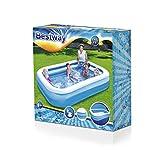 Bestway Family Pool, Pool rechteckig für Kinder, leicht aufbaubar, blau, 262x175x51 cm - 8