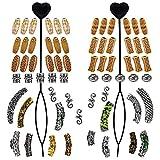 Vathery 65 Pcs Viking Barbe Perles de Rune Dreadlocks Bijoux de Cheveux pour Coiffure Tresse Bracelet