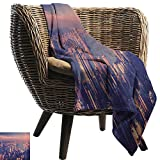 warmfamily Decorative Throw Blanket City Dreamy View of Chinese City Hong Kong Urban Scene Concept Victoria Harbor Sofa Chair 36' Wx60 L