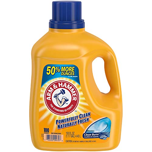 ARM & HAMMER Clean Burst HE Liquid Laundry Detergent, 150 fl oz