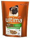 Ultima Croquettes pour Chien Mini (1-10 kg) Adulte Appétit Difficile Poulet 1 kg - Pack de 8