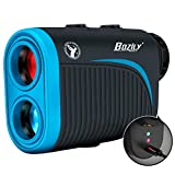 Bozily Golf Rangefinder with Slope, 6X Rechargeable Laser Range Finder with Charging Cord, 1200 Yards Flag-Lock, Slope ON/Off, Continuous Scan Support - Tournament Legal Golf Rangefinder