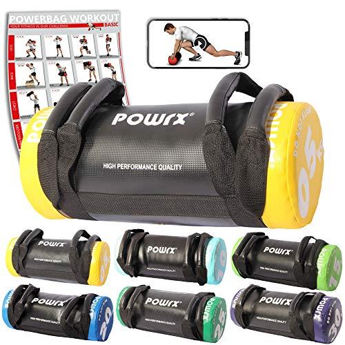 POWRX Sandbag de 5 a 30 kg Mejorar Equilibrio, Fuerza y coordinación...