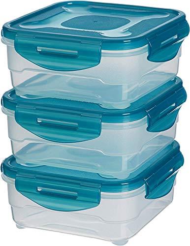 AmazonBasics: Juego de almacenamiento de comida de 3 unidades, 3 x 0,80 L