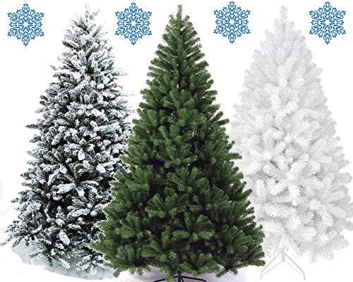 XONIC Künstlicher Weihnachtsbaum Tannenbaum 30,60,90,120, 150, 180,210 240cm Christbaum Baum GRÜN Weiss Schnee (90, GRÜN)