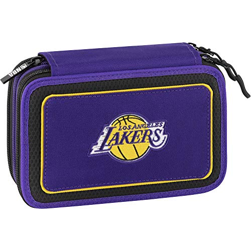 NBA Astuccio Corredo 3Zip L.A.Lakers Viola