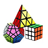 Coolzon Speed Cube Rubiscube, Ensemble de Cubes 3x3 + Pyraminx + Megaminx...