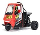 HappyCow X-Rider Flamingo 1/8 2.4G 2WD Rc Car Electric Tricycle RTR Model 2 in 1 ESC High Speed RC Car Outdoor Vehicle Toys (Red)