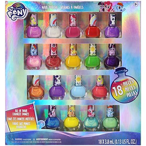 My Little Pony - Townley Girl Juego de esmalte de uñas Peel Off con colores brillantes y opacos para niñas de 3 años o más, perfecto para fiestas, fiestas de pijamas y cambios de imagen
