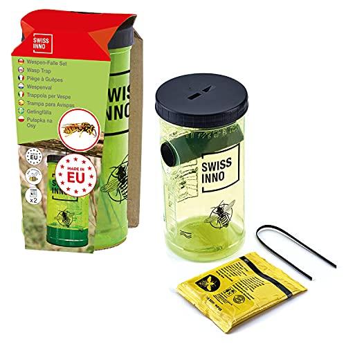 SWISSINNO 1 343 001W NaturalControl Set Trappola per vespe incl. Esche Naturali Prive di Veleno, 1 Pezzo