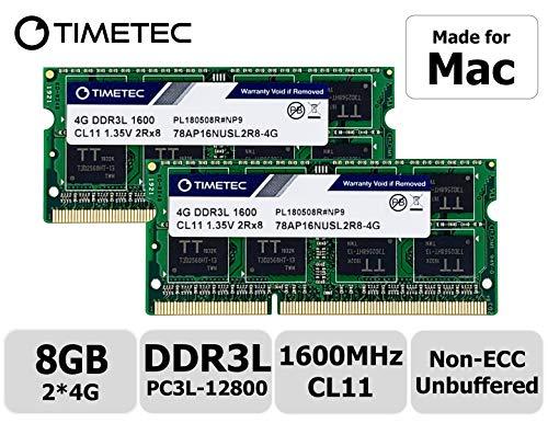 Timetec Hynix IC 8GB Kit (2x4GB) DDR3 1600MHz PC3-12800 SODIMM Memory Upgrade For Mac (8GB Kit (2x4GB))