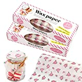 Zezzxu Wax Paper Food Picnic Paper, 100pcs Grease Proof Paper Waterproof Dry Hamburger Paper Liners Wrapping Tissue for Plastic Food Basket (Pink Rose pattern)