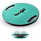 Yes4All Wobble Balance Board/Round Wobble Board – 16.34 inch Plastic Balance Board for Rehabilitation Exercise & Core Strength Training (Teal)