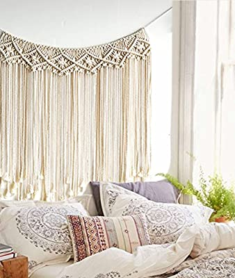 FUNCTION: macrame wall hanging are features a beautiful modern circle design and is a real showstopper, and also can easily transform any room into a modern, yet ethereal sanctuary. You'll adore its lovely texture and minimalistic beauty, this tapest...