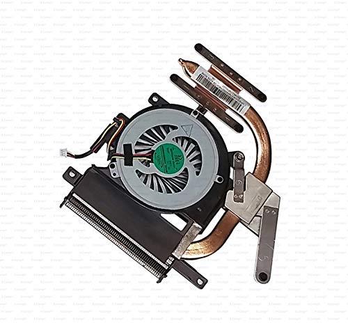 X-Comp Ventola CPU Fan Cooler Heatsink 3VHK5TMN000 per Sony Vaio SVE15 Serie Scheda Madre con Scheda Grafica