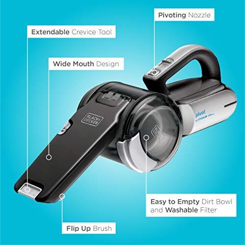 Product Image 8: BLACK+DECKER 20V Max Handheld Vacuum, Cordless, Grey (BDH2000PL)