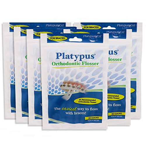 Platypus Orthodontic Flosser for Braces 30-Count (Pack of 6)