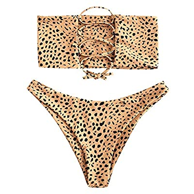 Material: Nylon/Spandex . Smooth skin-friendly fabric bikini swimsuit sets are very stretchy, comfortable and durable.Different style/pattern was made of different material Strapless Bandeau: Classic crop look,the Strapless Bandeau Bikini Set allows ...