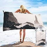 Lawenp Toalla de Playa de Secado rápido, Toallas de baño Ligeras de Microfibra Impresas en Islandia, súper absorbentes para niños y Adultos de 31.5 'X63'