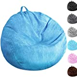 Bean Bag Chair Cover (No Filler) Washable Ultra Soft Corduroy Sturdy Zipper Beanbag Cover for Organizing Plush Toys or Textile, Sack Bean Bag for Adults,Kids,Teens