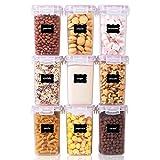 Vtopmart Lot de 9 boîtes de conservation de nourriture en plastique avec...