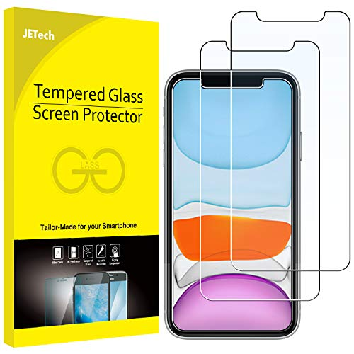 JETech Screen Protector for iPhone 11 and iPhone XR, 6.1-Inch, Tempered Glass Film, 2-Pack