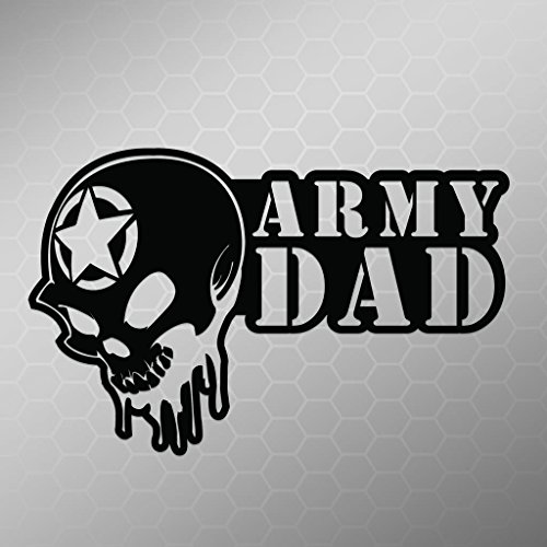 Army Dad Skull Vinyl Decal Sticker | Cars Trucks Vans Walls Laptops Cups | Black | 5.5 X 3.5 Inch | KCD1702B