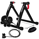 UNIKSY Bike Trainer Stand Turbo Trainer Indoor Riding Stand Magnetic Bicycle Training Stand with 6 Level Resistance Fit for 26-28 inch, 700C wheel