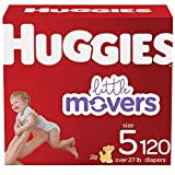 Baby Diapers Size 5, 120 Ct, Huggies Little Movers