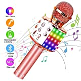 SunTop Microphone Karaoké Bluetooth Sans Fil, Haut-parleur Multifonctionnel...