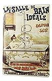 LEotiE SINCE 2004 Plaque en Métal Métallique Poster Mural tin Sign Amusant Salle de Bain