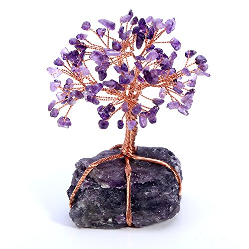 Top Plaza Chakra Healing Crystals Copper Money Tree Wrapped...