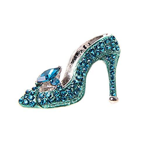 sharprepublic Señoras De Diamantes De Imitación De Cristal Violeta Zapatos De Tacón Alto De La Princesa Broche - 4