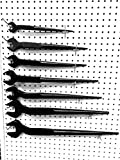 Shop-Tek Iron Worker Spud Wrench Set 3/4' - 1-5/8' (7-Pieces), Made of Chrome Vanadium Steel - Sold by Ucostore Only