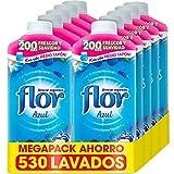 Flor - Suavizante para la ropa concentrado, aroma azul - Pack de 10, hasta 530 dosis