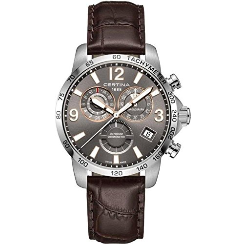 Certina DS Podium GMT Herren-Armbanduhr 42mm Leder Batterie C034.654.16.087.01