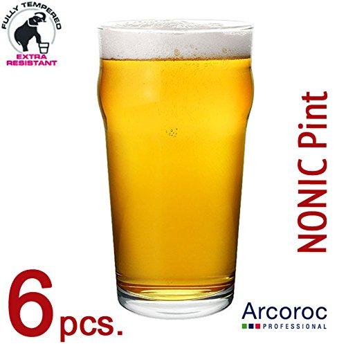 ARCOROC - Set 6 pezzi - Bicchiere Birra PINTA IMPERIALE - mod. NONIC PINTA 57 cl.