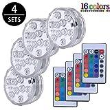 Lumières Paysage Coloré Décoratives Éclairage LED Étanche Lot de 4...