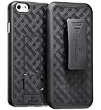 WizGear iPhone 6 Holster, Shell Holster Combo Case for Apple iPhone 6 with Kick-Stand and Belt Clip (Not for iPhone 6 Plus)