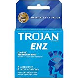 Trojan ENZ Lubricated Condoms, 3 Count (Pack of 6)