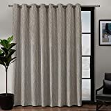 Exclusive Home Curtains Forest Hill Woven Blackout Grommet Top Single Curtain Panel, 108X84, Natural