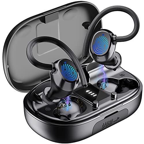 Auriculares Inalámbricos Deportivos, Auriculares Bluetooth 5.1 Deporte IPX7 Impermeable Cascos Inalámbricos con Mic 48H Estéreo Cancelación de Ruido In-Ear Auriculares Running/Sport-2021 Actualizado