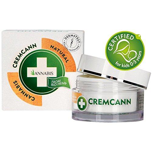 Annabis Cremcann Omega 3-6 – 50ml – Crema regeneradora e hidratante ayuda con arrugas, eccema, psoriasis y acné – Fabricado con Omega 3 & 6 de extracto de cáñamo de Cannabis Sativa.